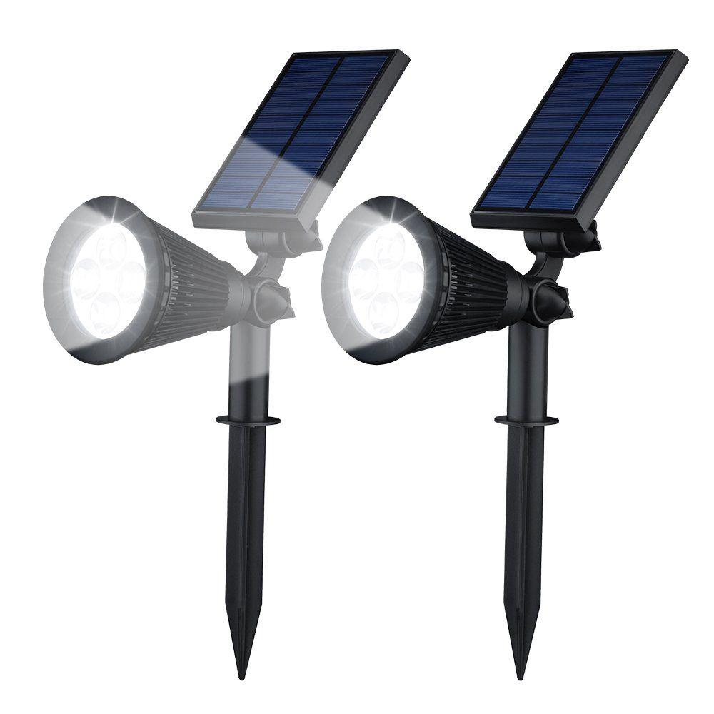 2 Faretti LED Solari da Giardino